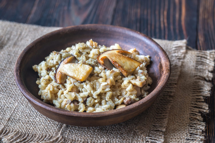 Rustic risotto with porcini mushrooms example image 1