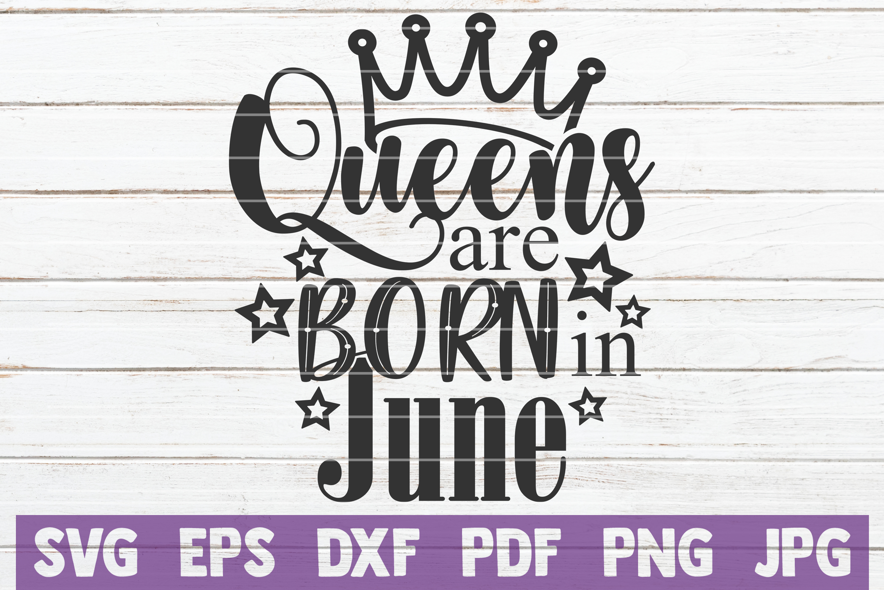 Queens Are Born In ... SVG Bundle | Birthday girl Cut Files example image 8