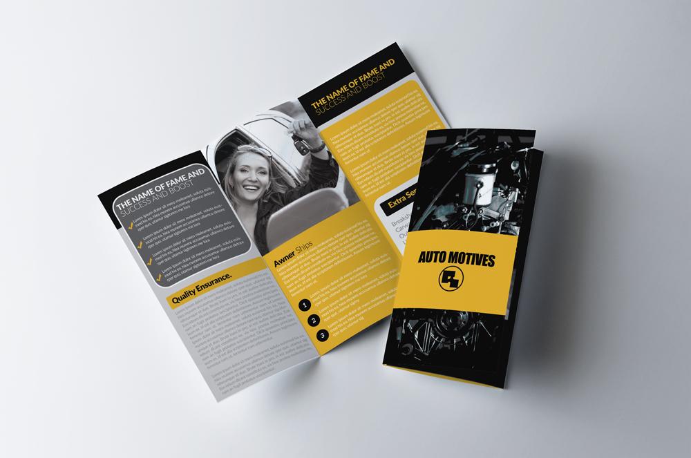 Automobile Service Tri-Fold Brochure Template  example image 1