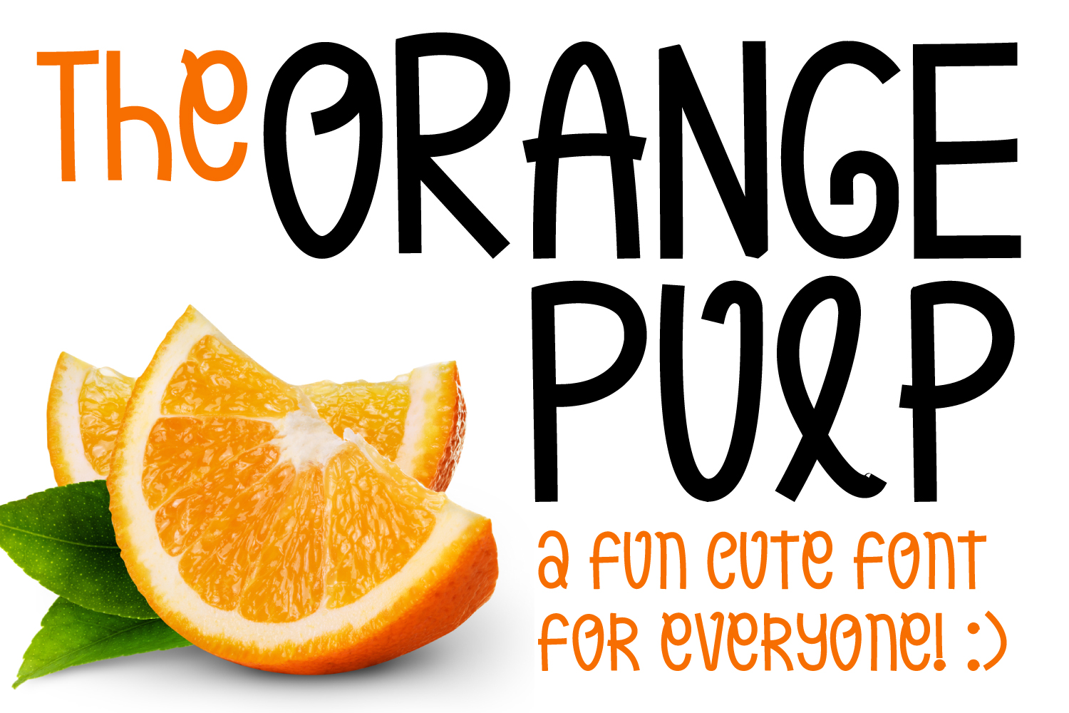 Orange Pulp : Sweet and Tasty Font example image 1