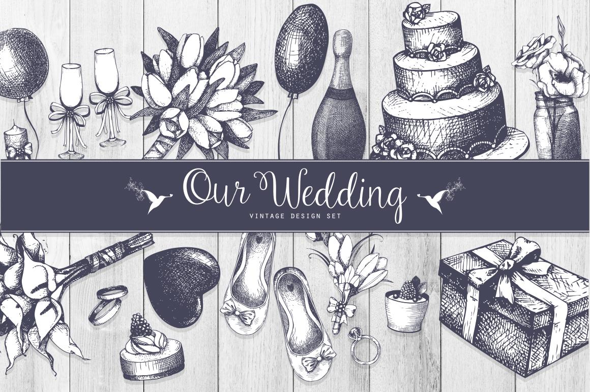 Vintage Wedding Design Set example image 1