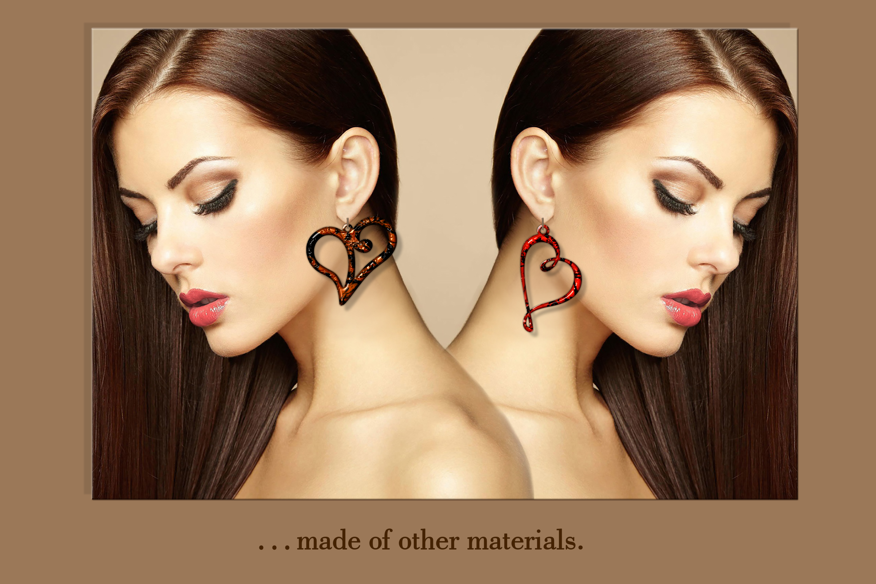10 Valentine Love earrings svg Leather earrings svg Necklace example image 4