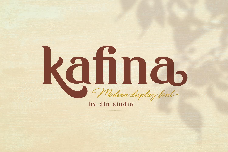 Kafina Modern Serif Font example image 1