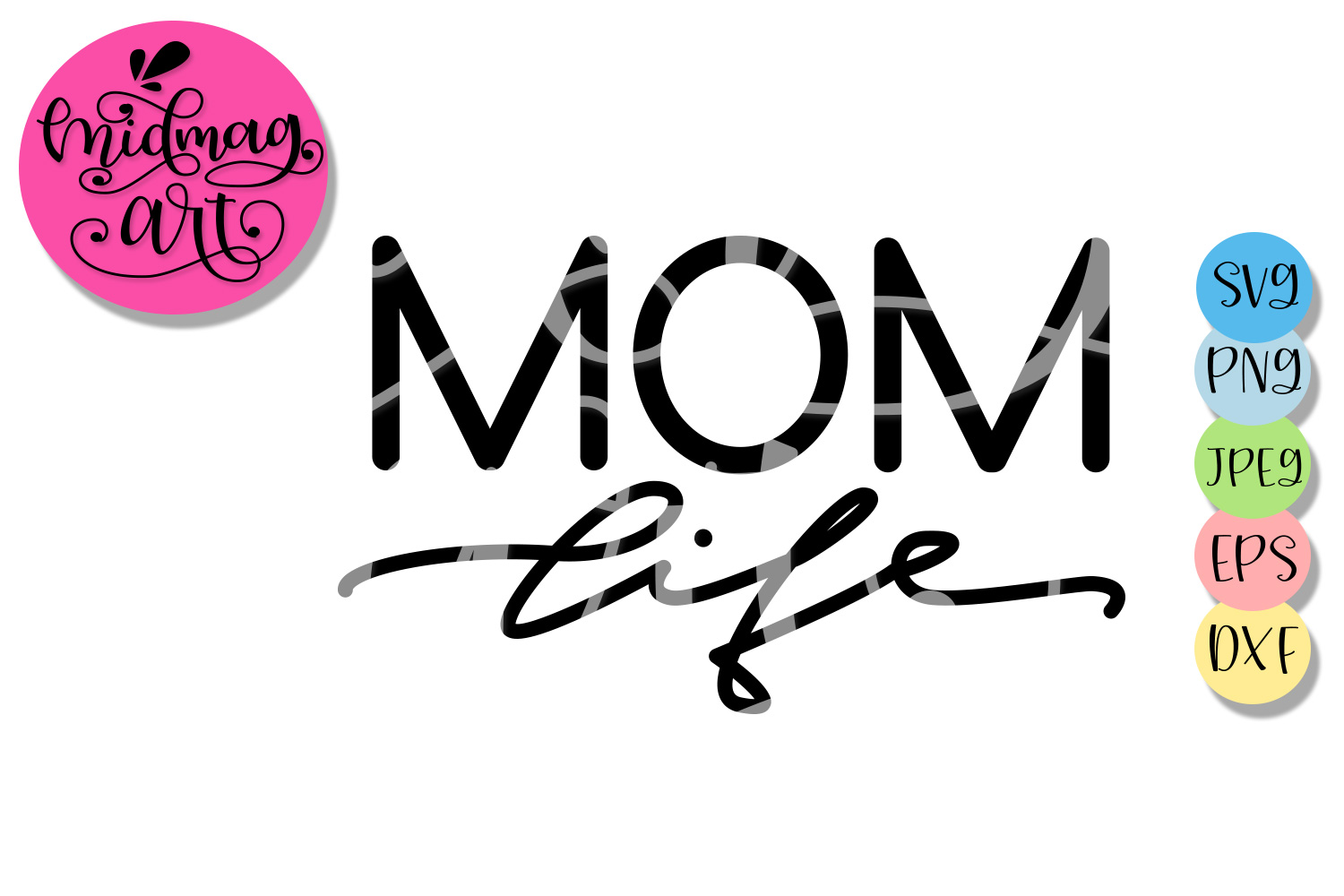 Mom life svg file, Mother's day 2019 svg file example image 2