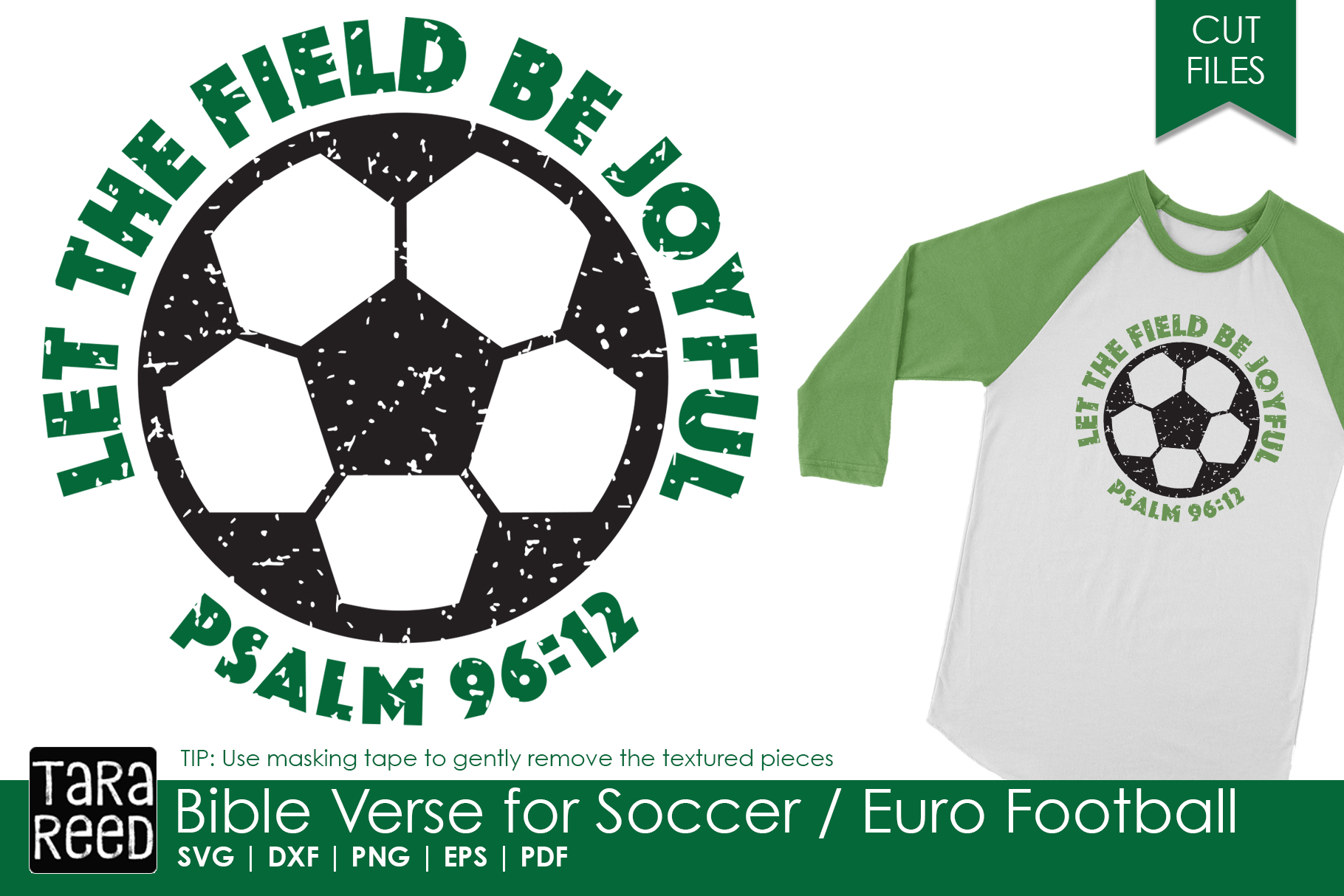 Bible Verse for Soccer / Euro Football - SVG and Cut Files example image 1
