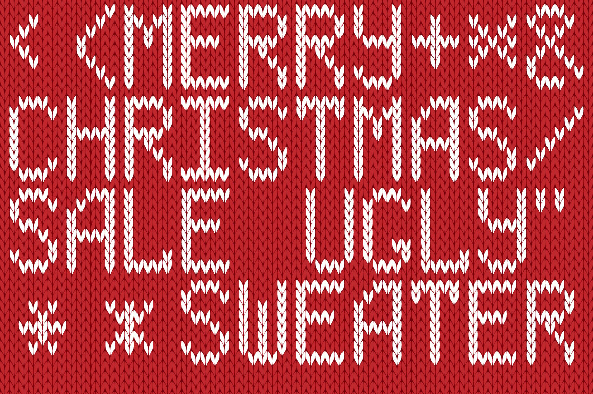 Christmas Knitted Font Ol Version 2.0 example image 3