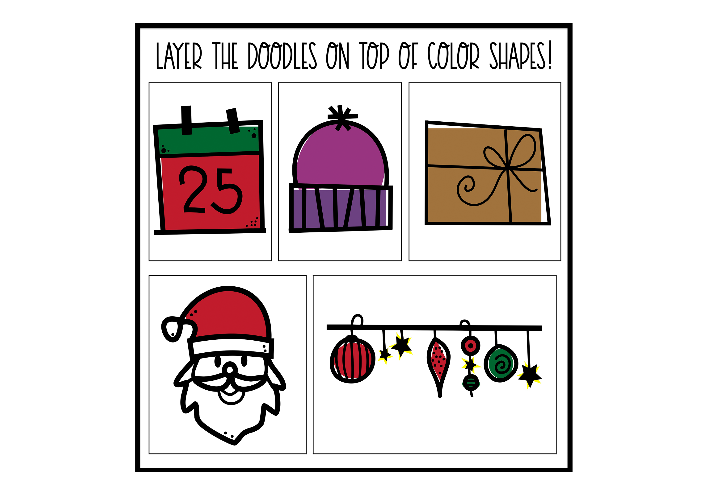 North Pole - A Christmas / Winter Doodles Font example image 6