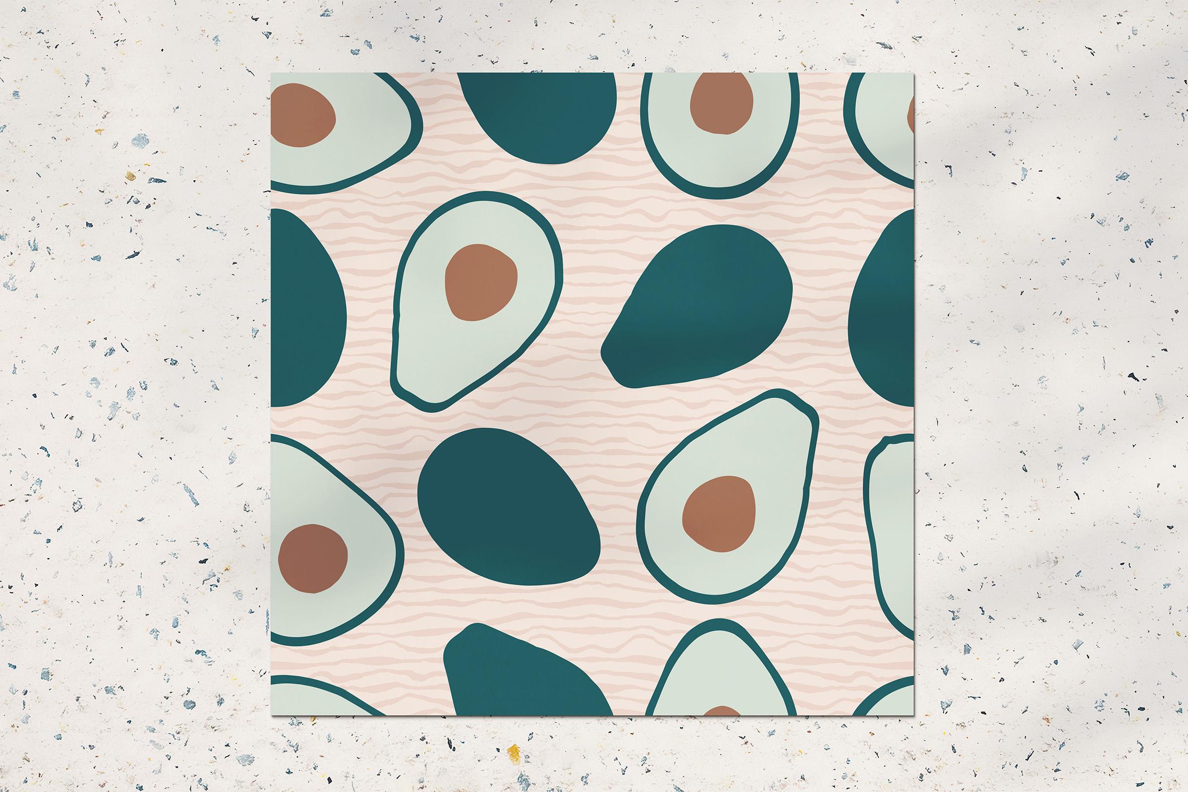 Avocado seamless pattern example image 2