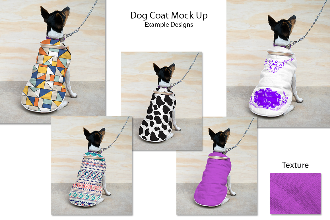 Dog Coat Mock Up PSD example image 2