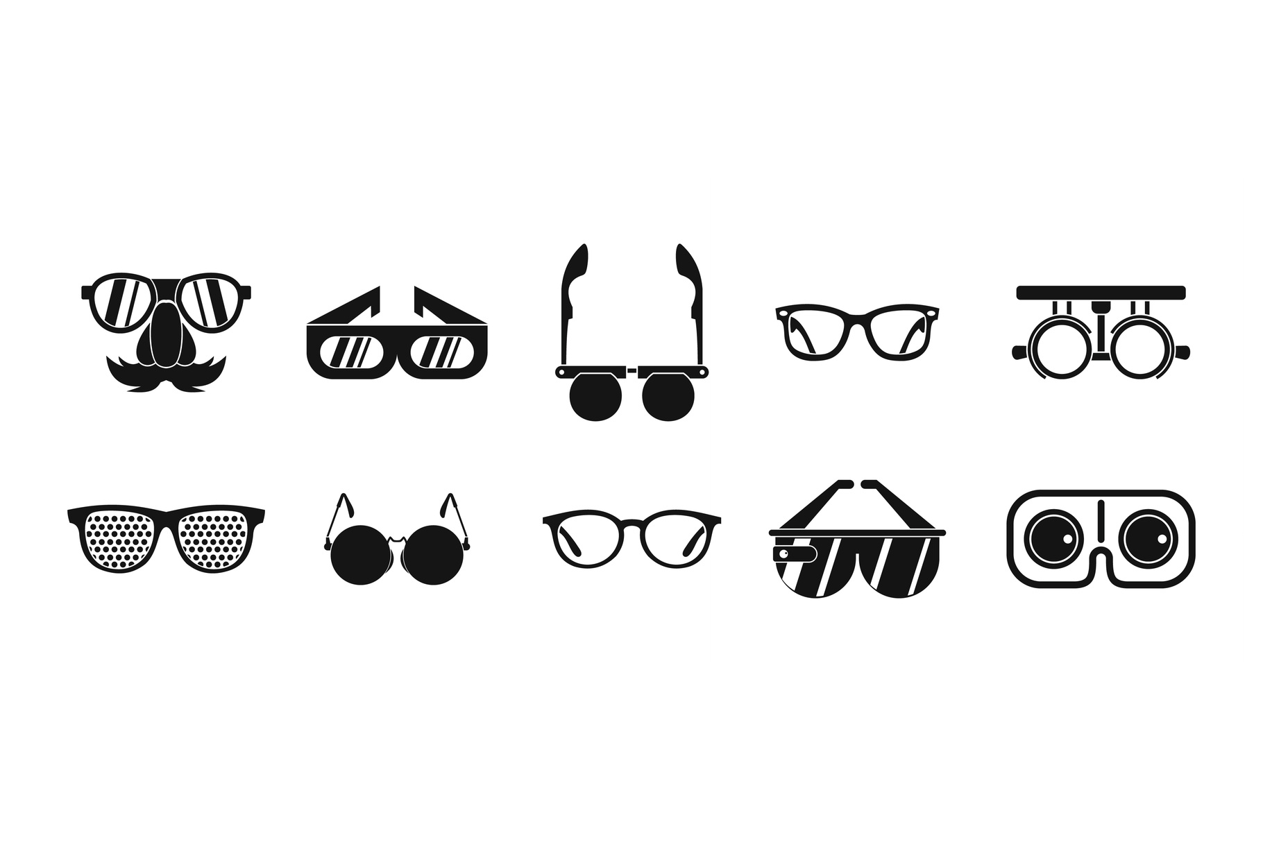 Glasses icon set, simple style example image 1