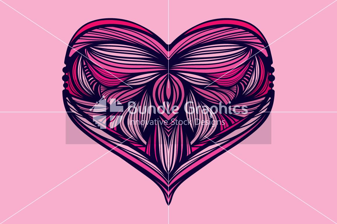Heart Symbol - Symmetrical Design example image 1