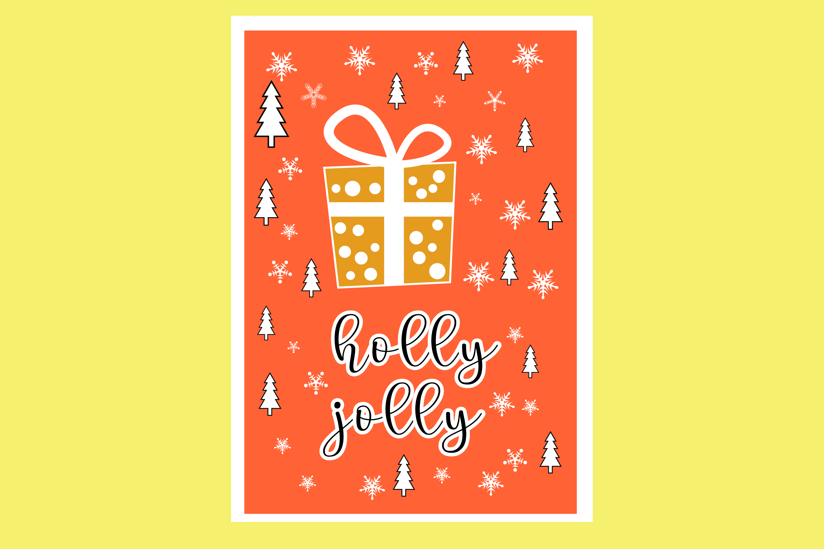 AA25-Christmas Greetings cards 6 Designs - SVG Bundle example image 3