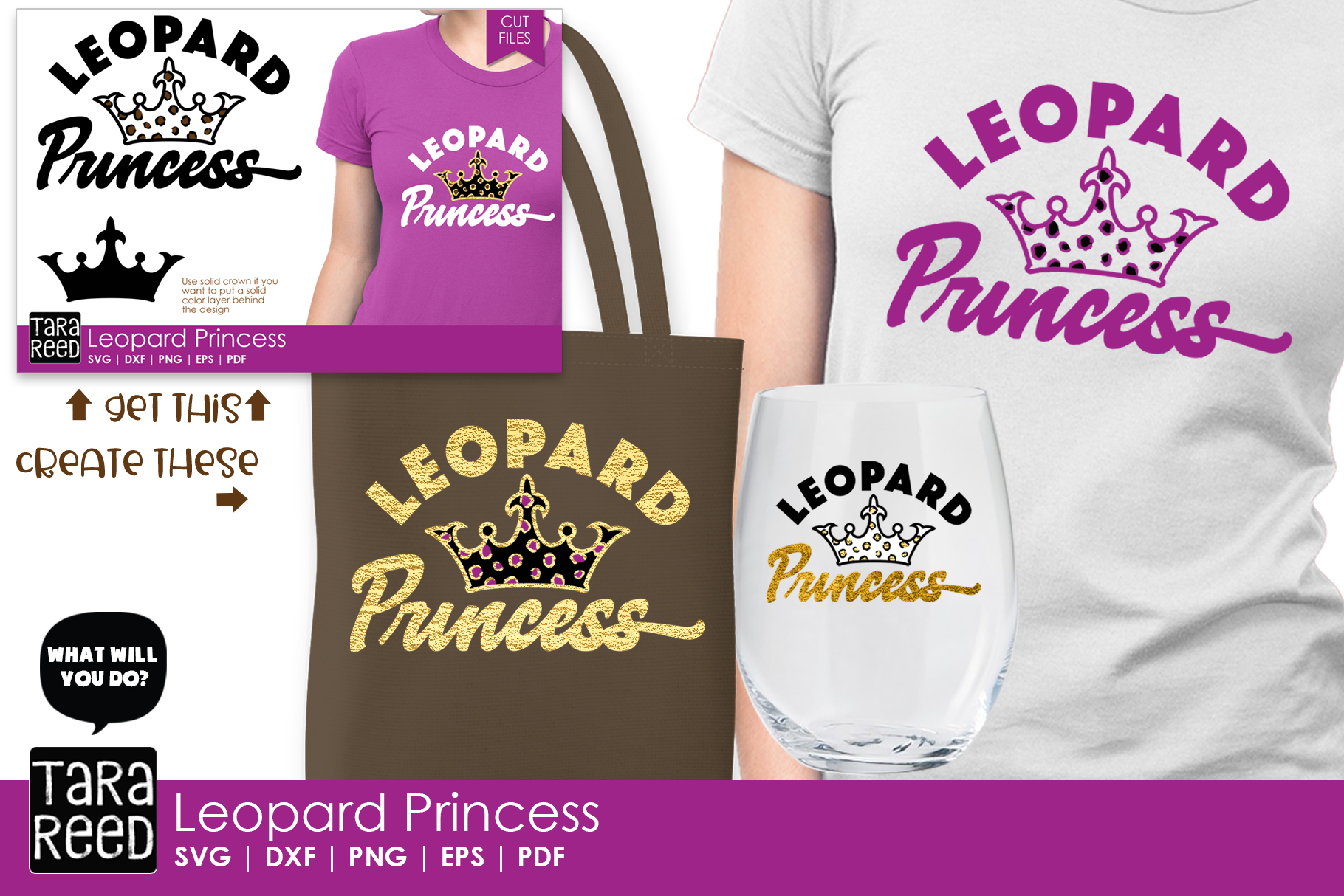 Leopard Princess - Leopard Print SVG and Cut Files example image 2