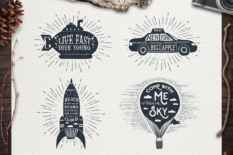 Adventure Vintage Badges (part 2) example image 4