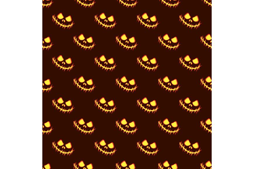 Set of 12 seamless vector backgrounds Happy Halloween.  example image 6