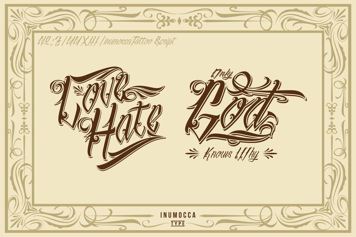 inuTattoo Script + Poster Vector example image 3