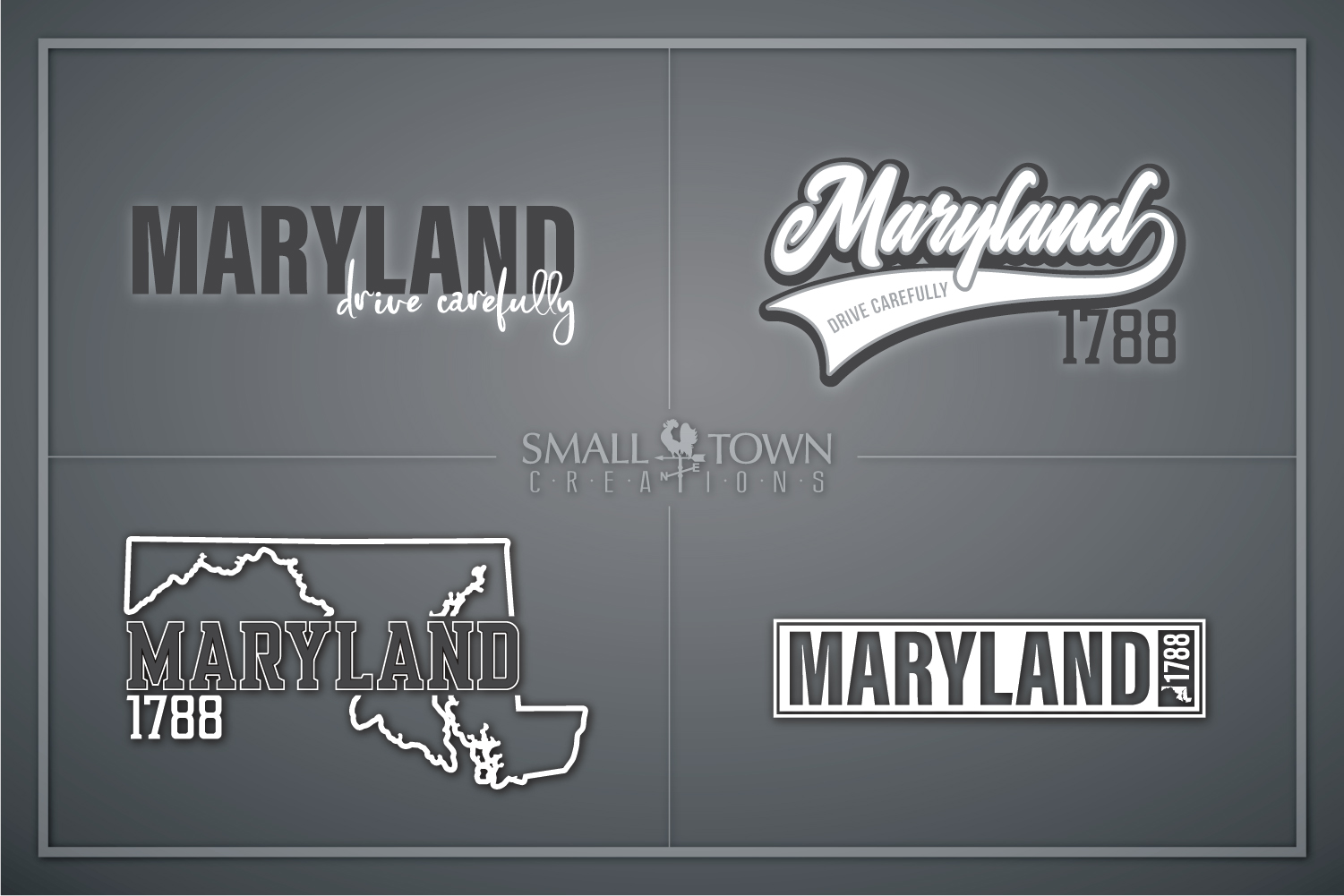 Maryland, Drive Carefully, Logo, PRINT, CUT & DESIG example image 1
