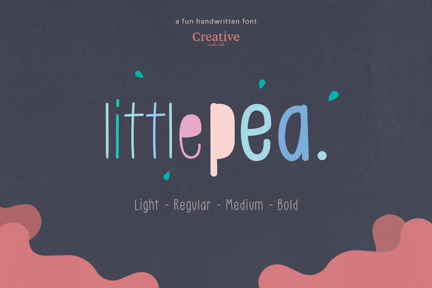 Little Pea - Handwritten font example image 1