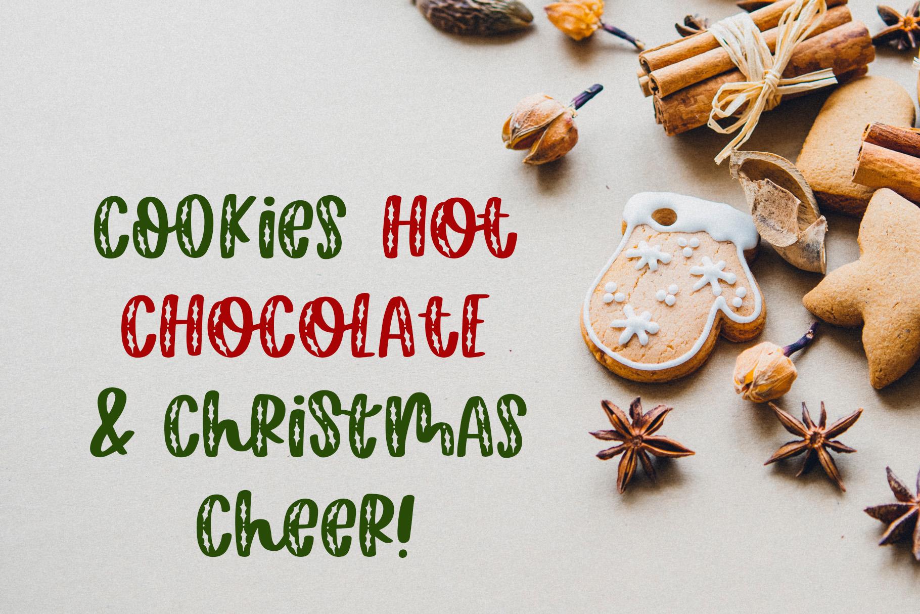 Happy Hollydays, A Christmas Mistletoe Font example image 5