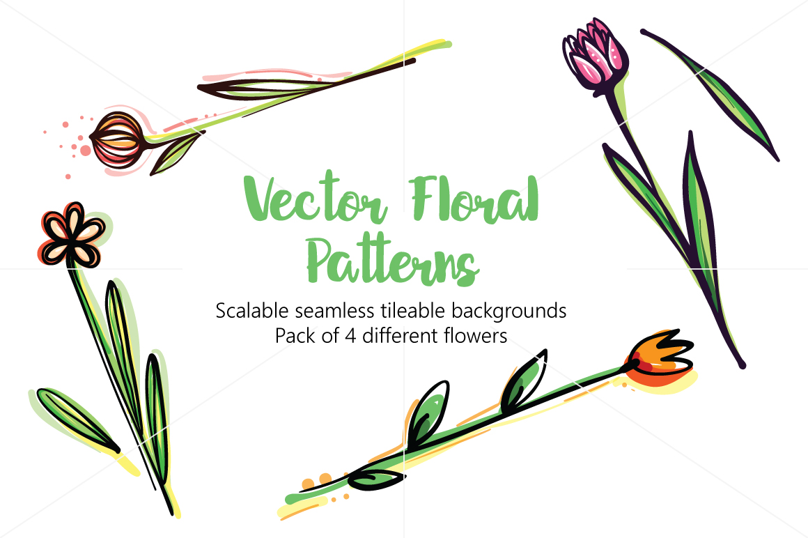 Vector Floral Pattern Pack example image 1