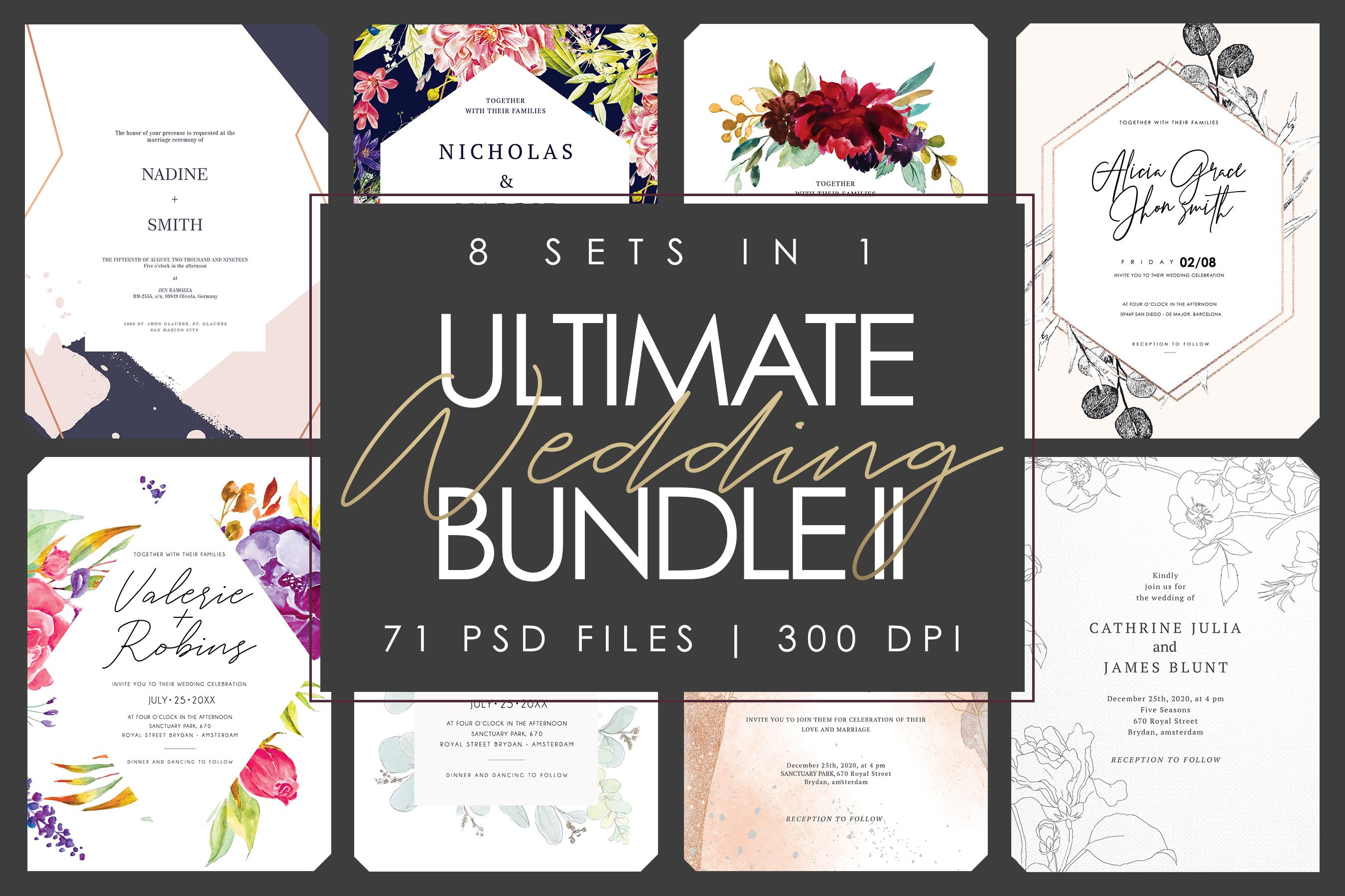 8 SET IN 1 | Ultimate Wedding Bundle II example image 1