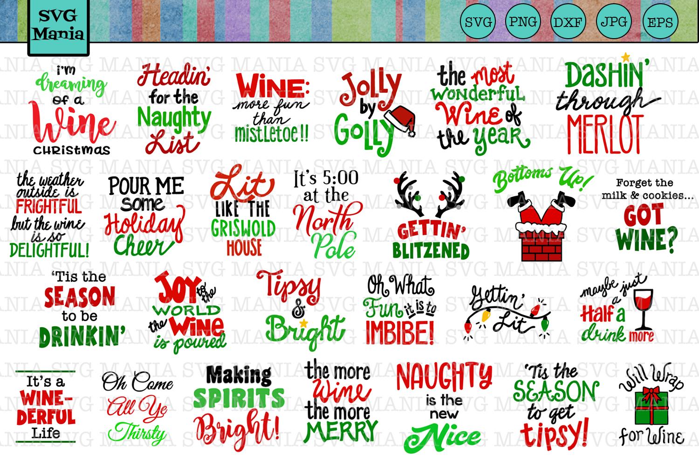 Christmas Wine.Funny Christmas Wine Glass Svg File Bundle Holiday Wine Svg