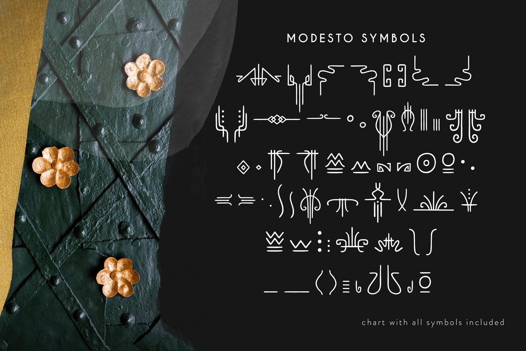 Modesto - Handwritten Art Deco Font example image 5