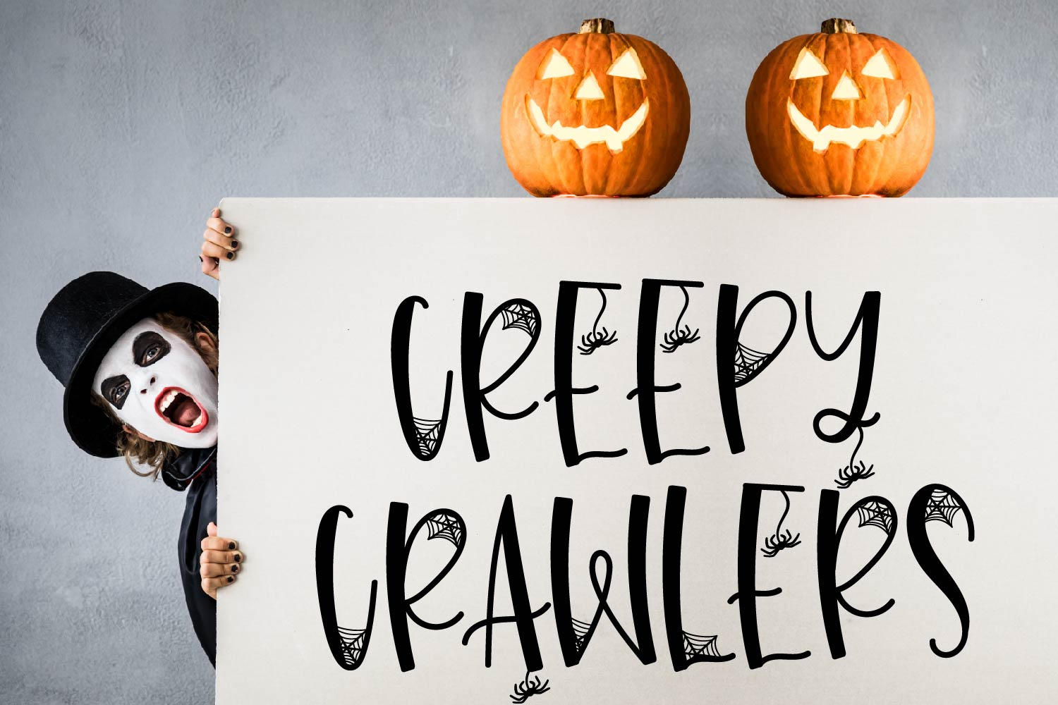 Leggy Monster - A Halloween Spider Font! example image 5