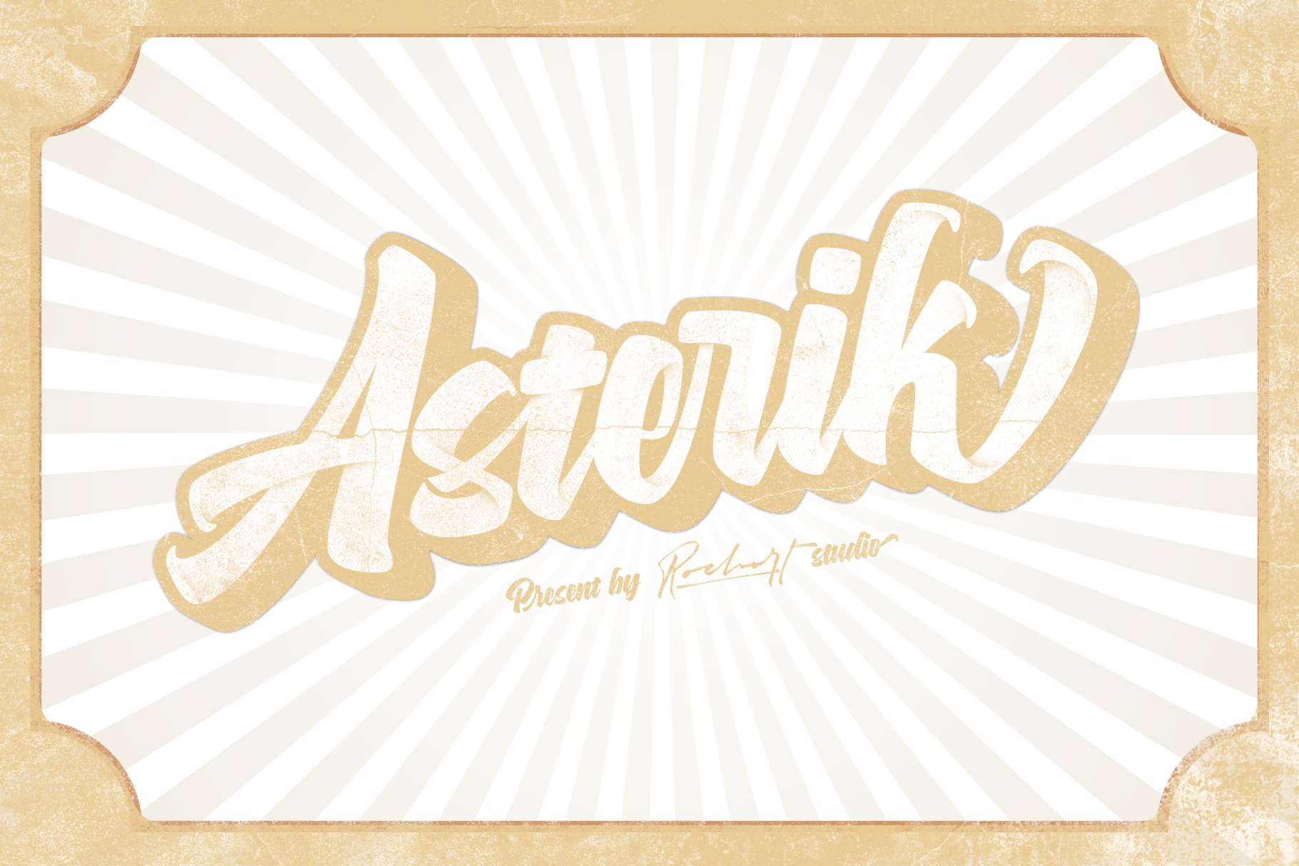 ASTERIK || Layered Bold Script example image 11