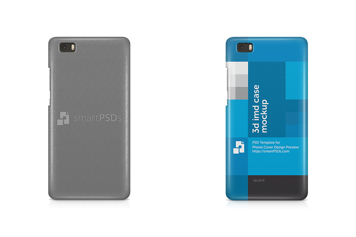 Huawei Ascend P8 Lite 3d IMD Mobile Case Design Mockup 2015 example image 1