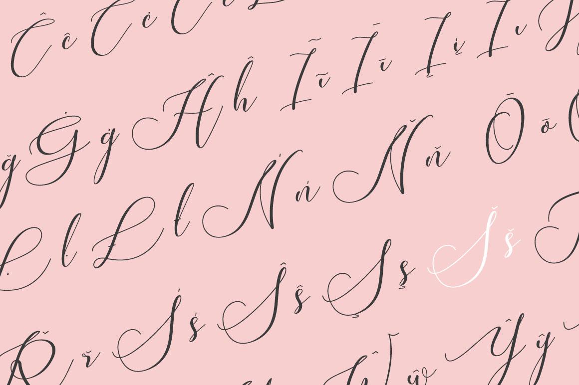 Susannah - an elegant script font example image 5