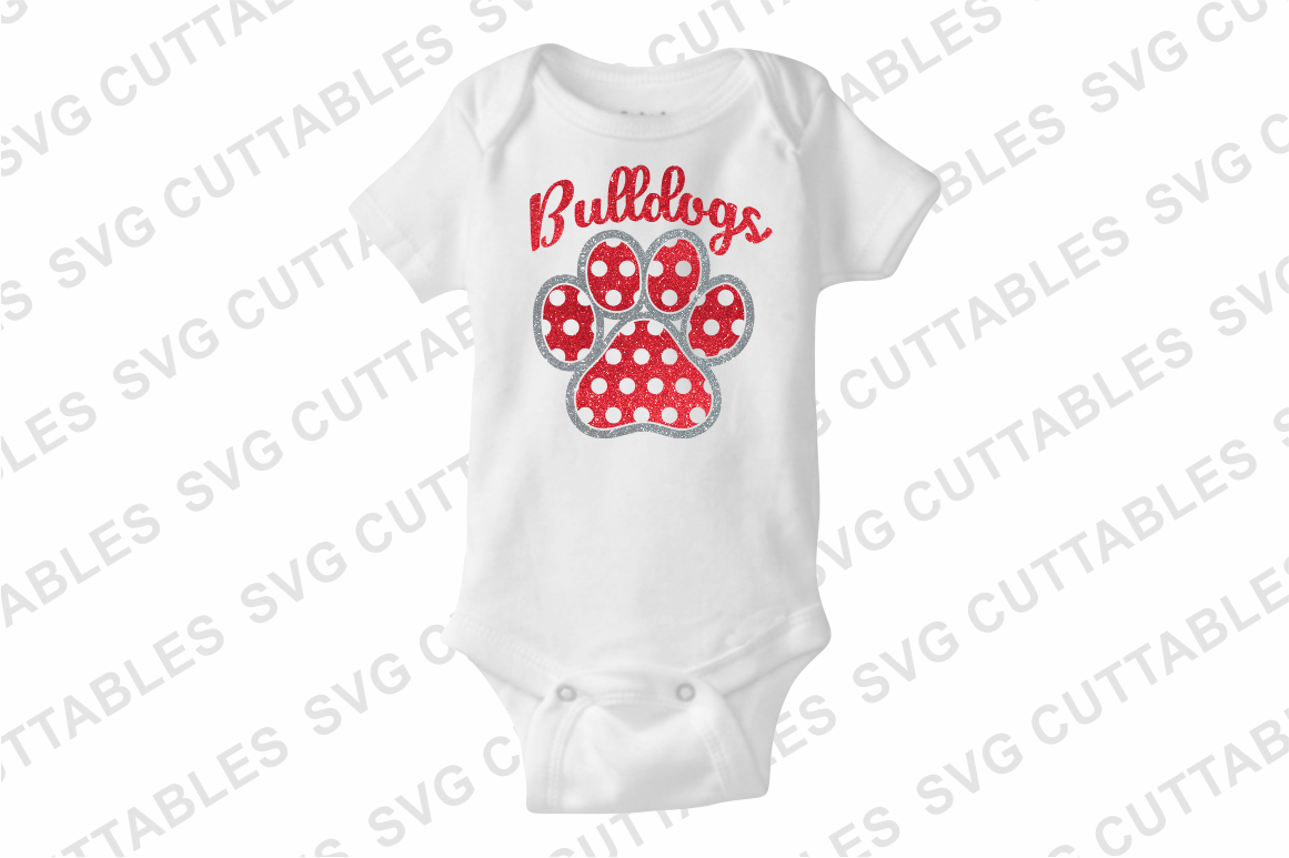 Pattern Paw Print   SVG Cut File example image 3