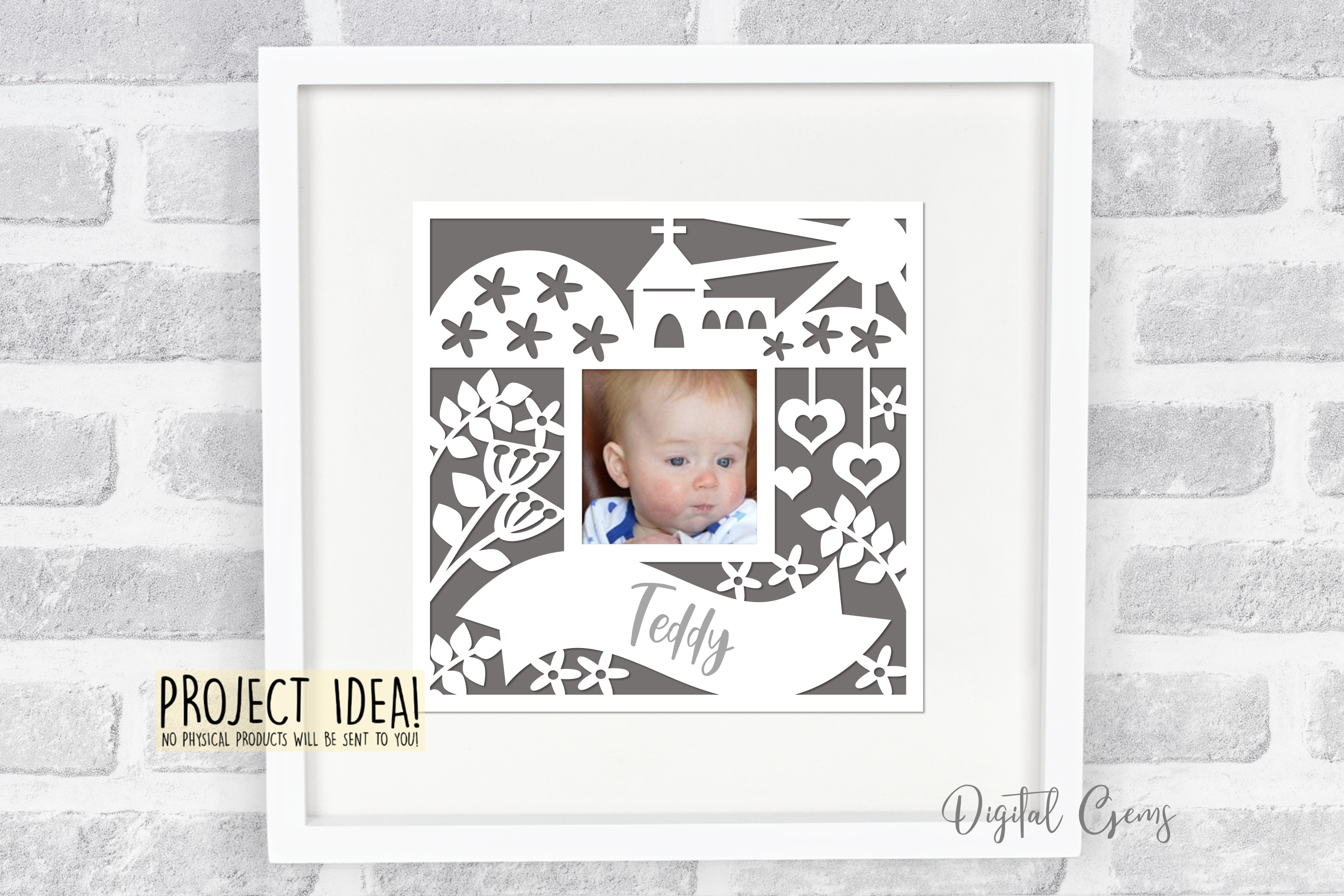 Christening / Communion / Wedding, Church frame design example image 2