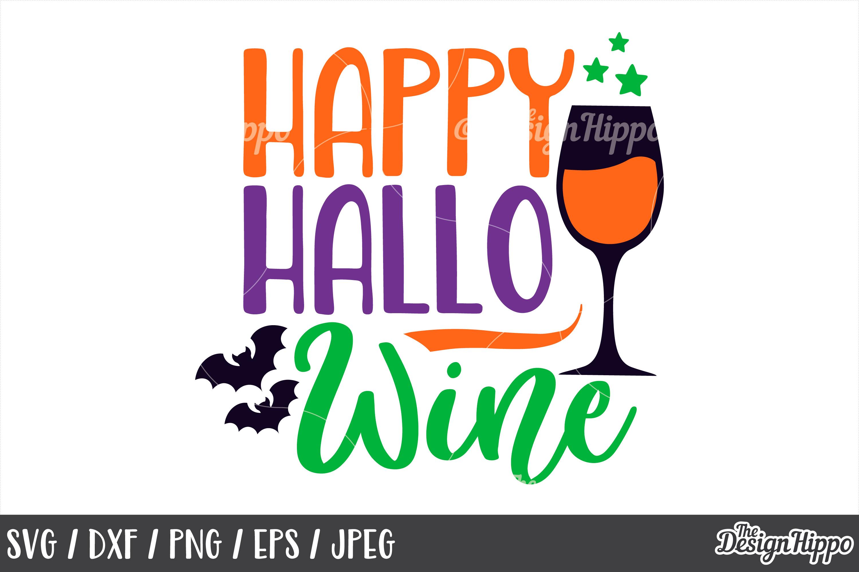 Happy hallowine, SVG, Hallowine, Halloween, Sayings SVG, PNG example image 1