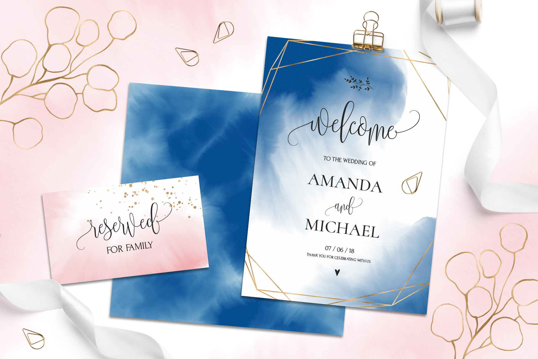 Navy & Blush Collection example image 2