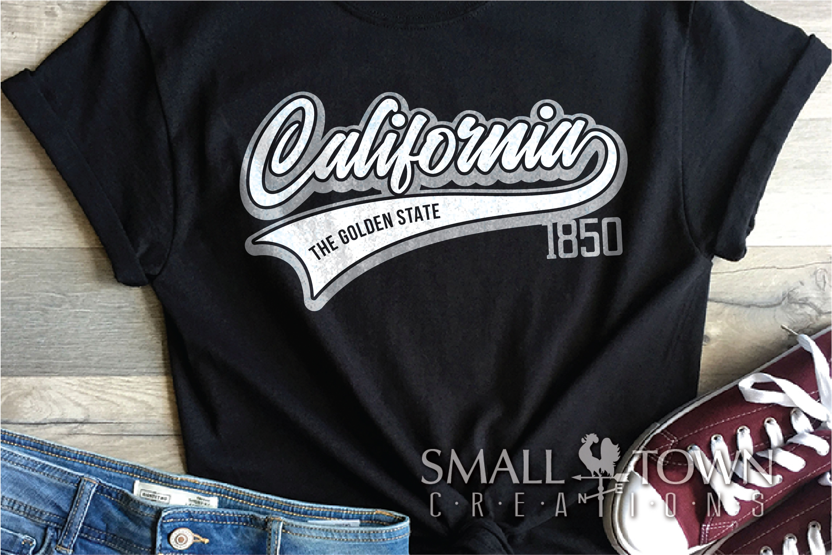 California, The Golden State, Logo, PRINT, CUT & DESIGN example image 2