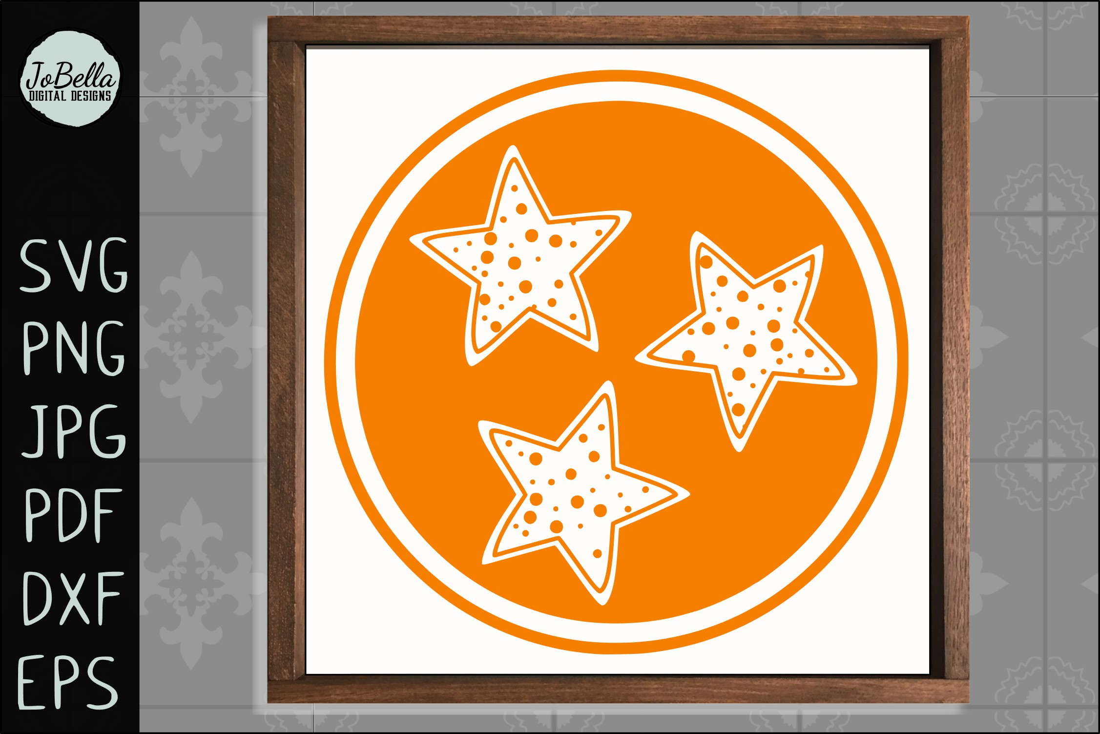 Polka Dot Tennessee TriStar SVG, Sublimation PNG & Printable example image 3