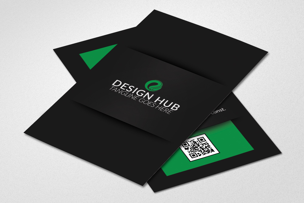 Vertical Business Cards Design example image 2