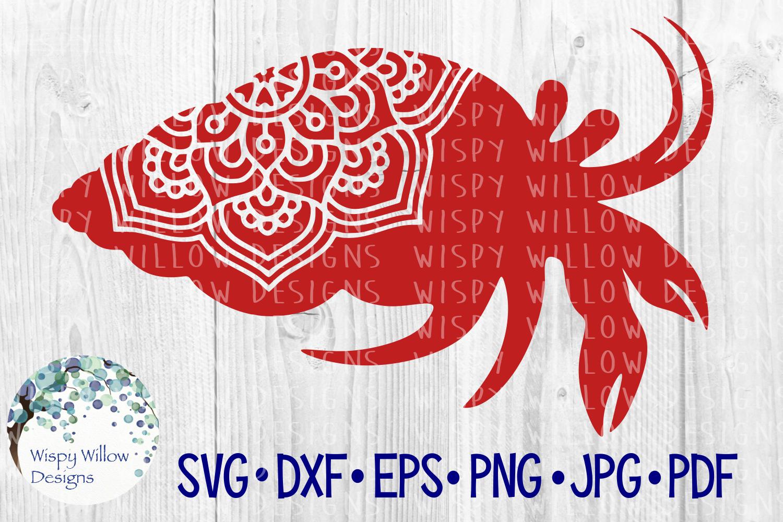 Hermit Crab Mandala, Animal Mandala SVG Cut File example image 1