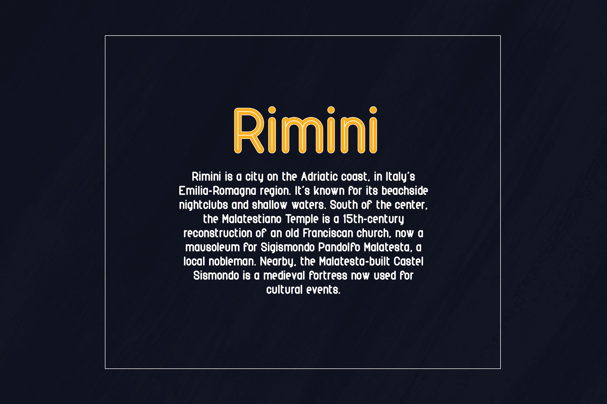 Rimini-Rounded Sans Serif font example image 5
