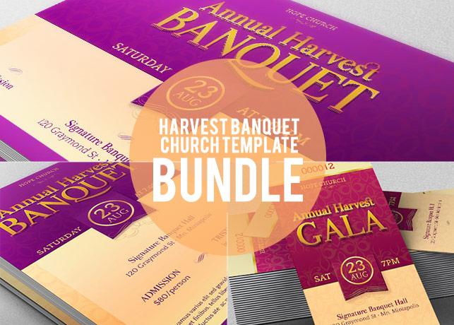 Harvest Banquet Template Bundle example image 1