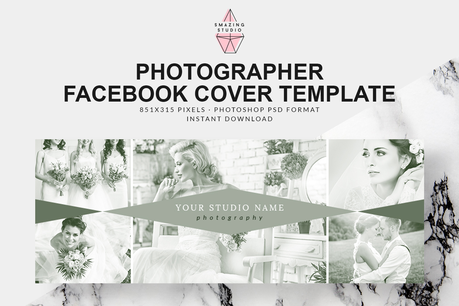 Photographer Facebook Cover Template - FBC012 example image 1