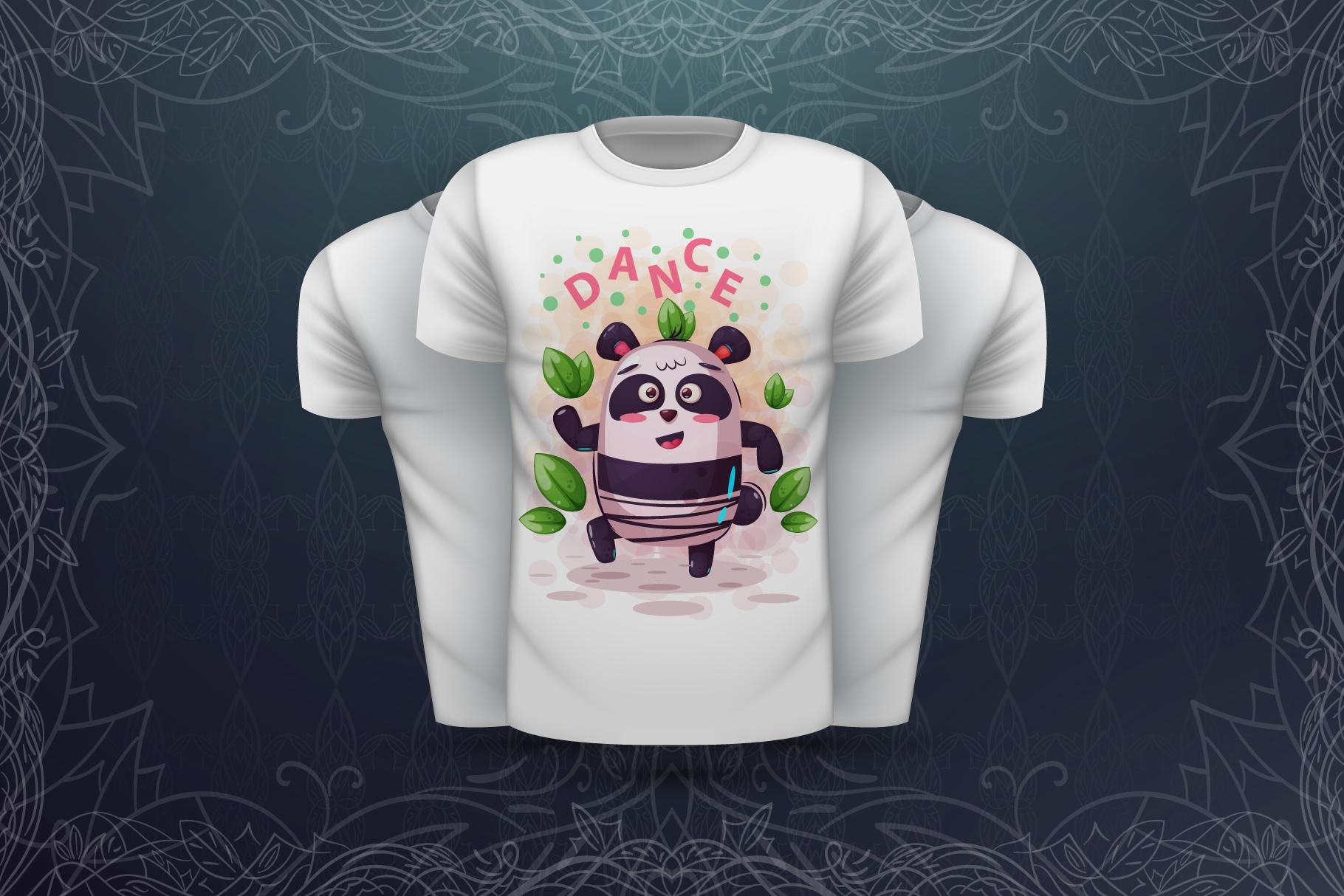 Set cute panda - for print t-shirt example image 2