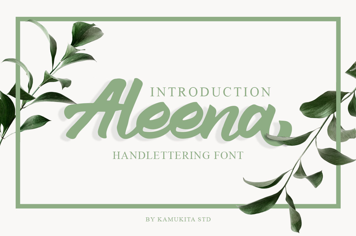 Aleena Handlettering Font example image 1