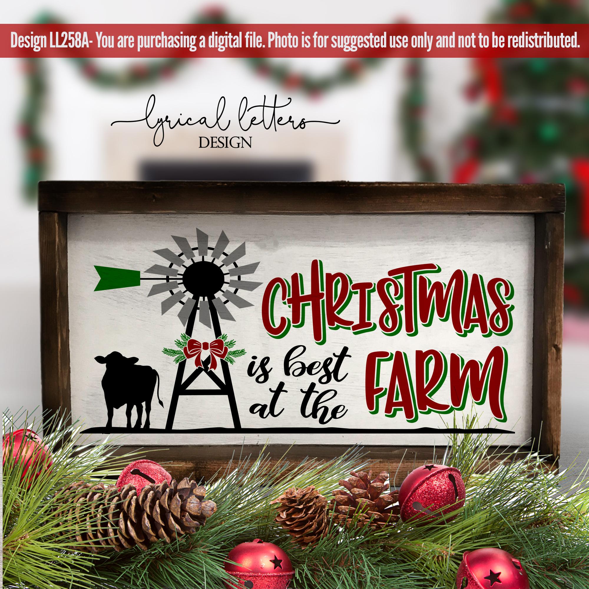 Farmhouse Christmas Bundle of 18 SVG Designs example image 2