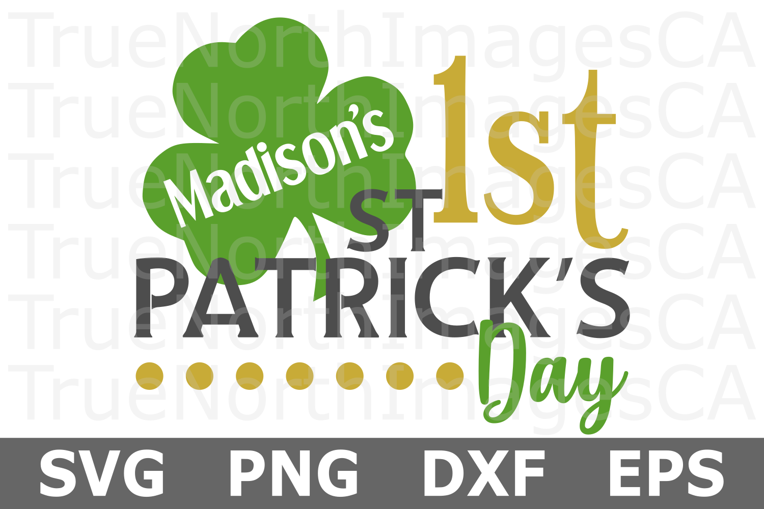 Personal 1st St Patricks Day - St Patricks Day SVG Cut File example image 1