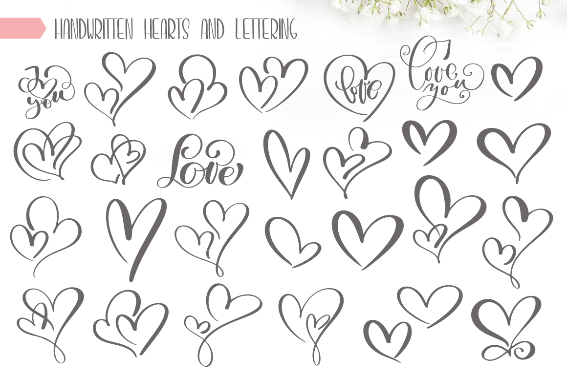 Valentines Hand Drawn Vector Collection example image 9