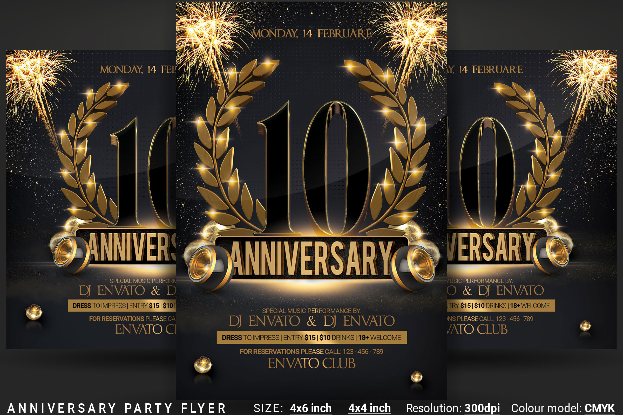 Anniversary Party Flyer example image 1