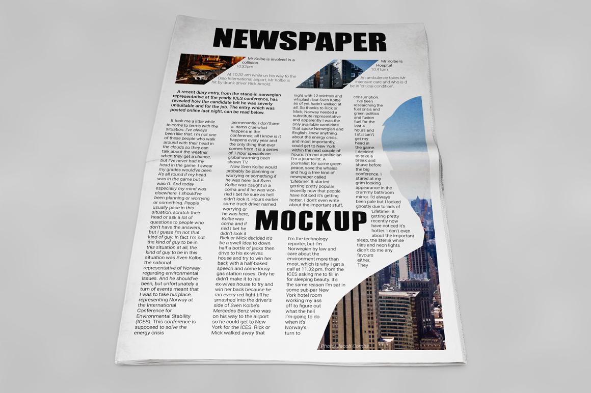 Newspaper Mockup example image 6