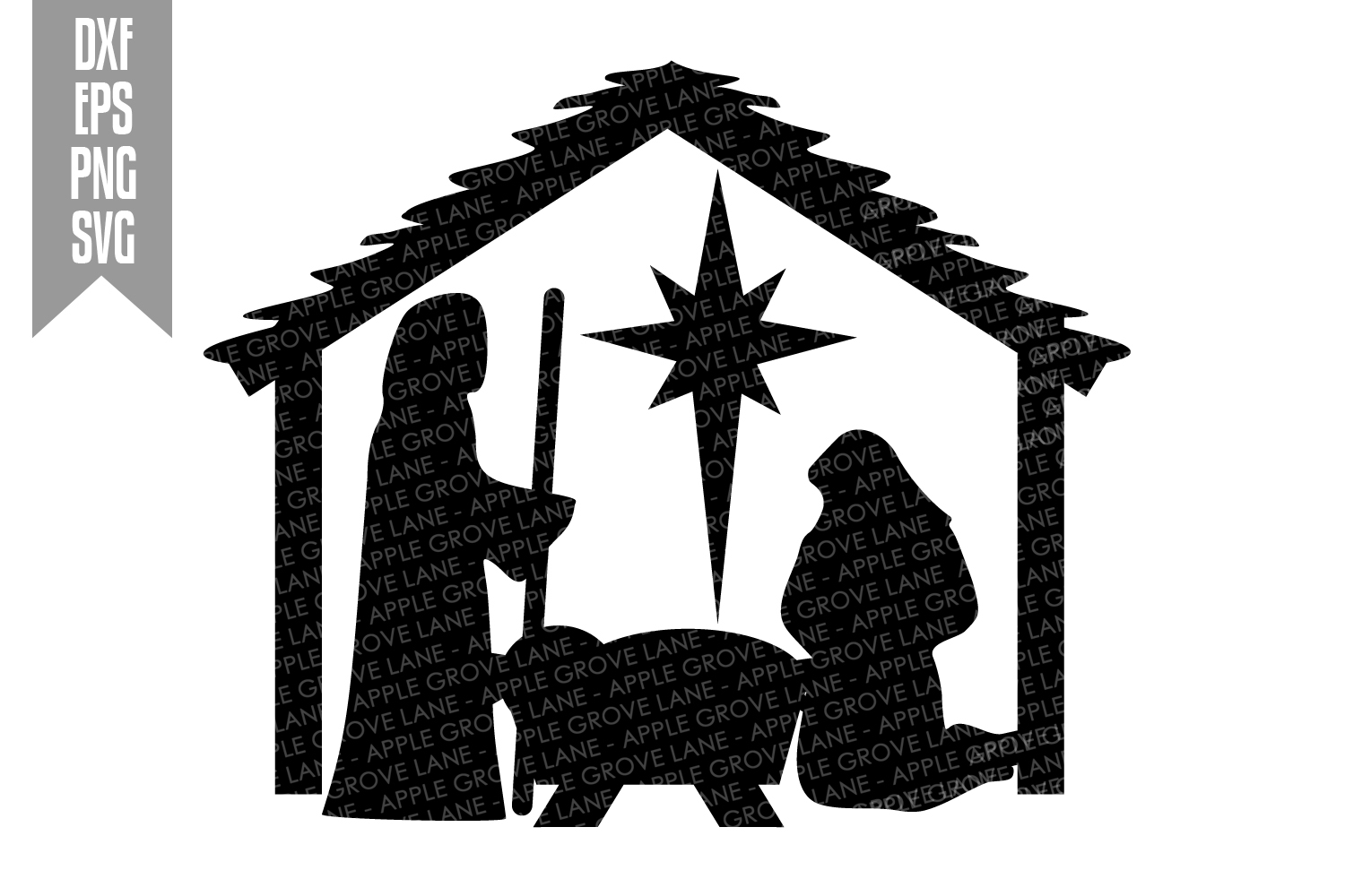 Nativity Svg Bundle - 9 designs included - Svg Cut Files example image 5